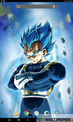 Sharp-eyed Vegeta Live Wallpaper - a cool phone wallpaper for Android - Screenshot #3