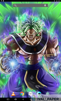 Broly God Live Wallpaper - a cool phone wallpaper for Android - Screenshot #1