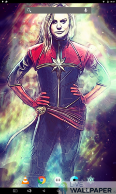 Captain Marvel Live Wallpaper - a cool phone wallpaper for Android - Screenshot #1