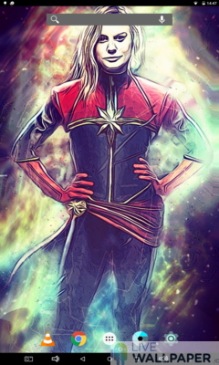 Captain Marvel Live Wallpaper - a cool phone wallpaper for Android - Screenshot #3