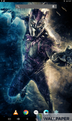 Fantastic Black Panther Live Wallpaper - a cool phone wallpaper for Android - Screenshot #1